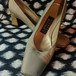 Stuart Weitzman Tan-ish gold heels